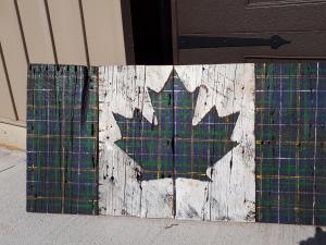 Custom Nova Scotia Tartan Canadian Barn Board Flag