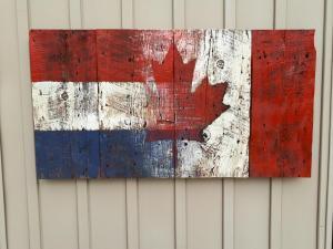 Custom Dutch Canadian Barn Board Flag