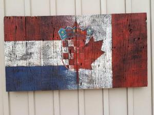 Custom Croatian Canadian Barn Board flag