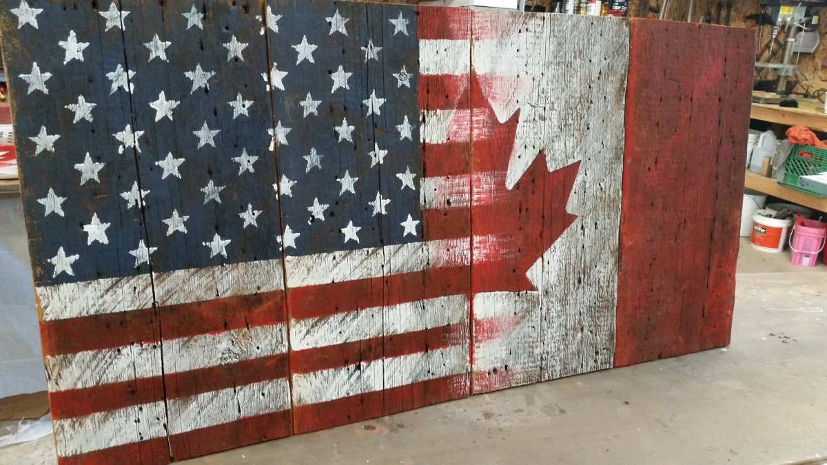 Barn board flags m jones creations world map gumiabroncs Gallery