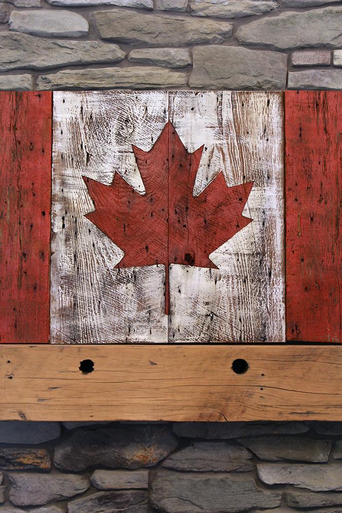 Unique Antique Rustic American Flag Barn Wood Reclaimed Board
