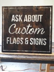 Ask about custom barnboard signs
