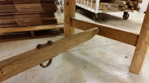 Grey Barn Door Table
