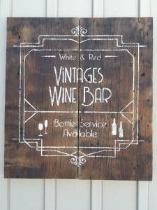 Vintages Wine Bar Sign