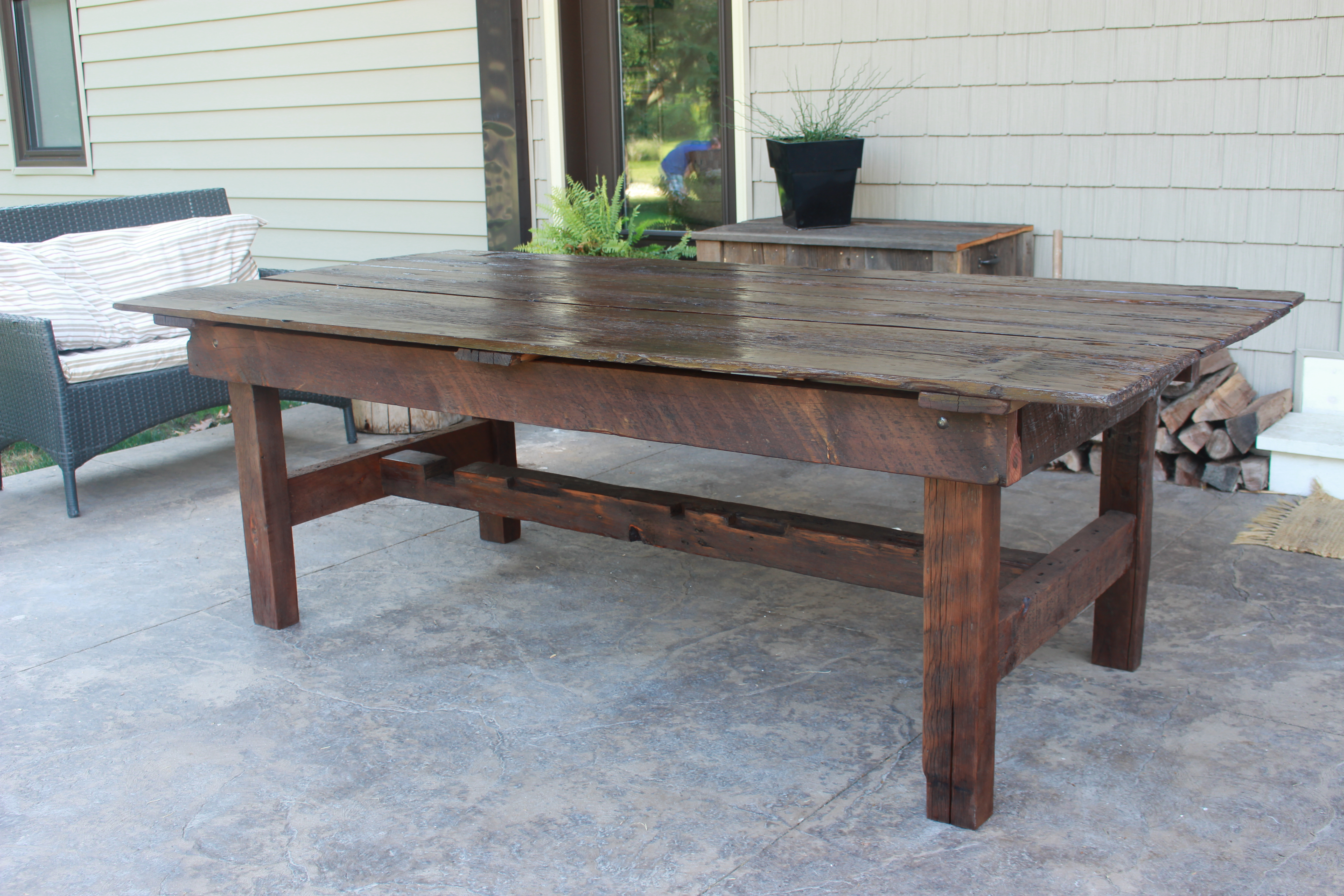 Barn Door Harvest Table