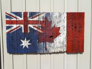Custom Australian Canadian Barn Board Flag