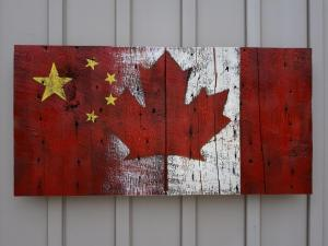 Custom Chinese Canadian Barn Board Flag