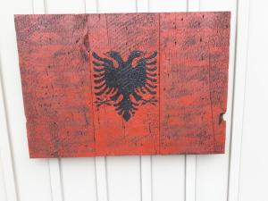 Custom Albanian Barn Board Flag