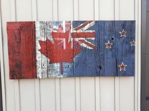 Custom New Zealand Canadian Barn Board Flag