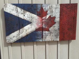 Custom Scottish Canadian Barn Board Flag