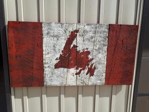 Custom Newfoundland Barn Board Flag