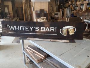 Custom Bar Sign on barn board