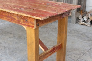 Red Barn Door Dining Table