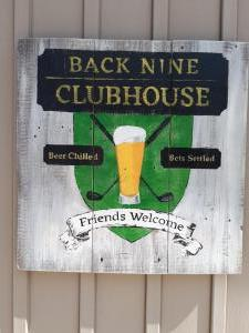 Back Nine Clubhouse Sign