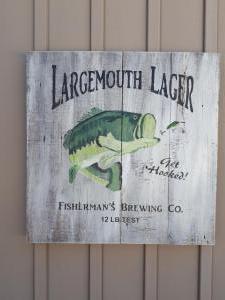 Largemouth Lager Sign