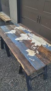 Barn Board World Map